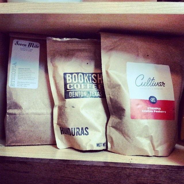 So much local (and soon to be local) coffee! Photo by @dentonkate.