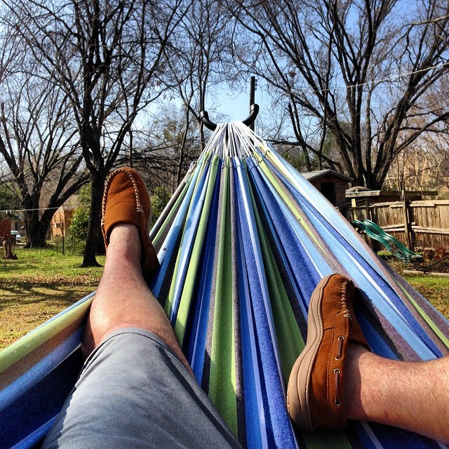 Saturday was nice. Like 80 degrees, sunny, sit in your hammock kind of nice. Photo by @ryfuhr.