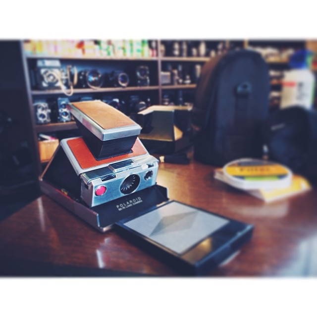 Zach Ashcraft  got a new-to-him Polaroid SX-70 from Denton Camera Exchange. Did you know they also sell Impossible Project film? Might be time to dust off that old Polaroid you've got sitting somewhere in your garage.