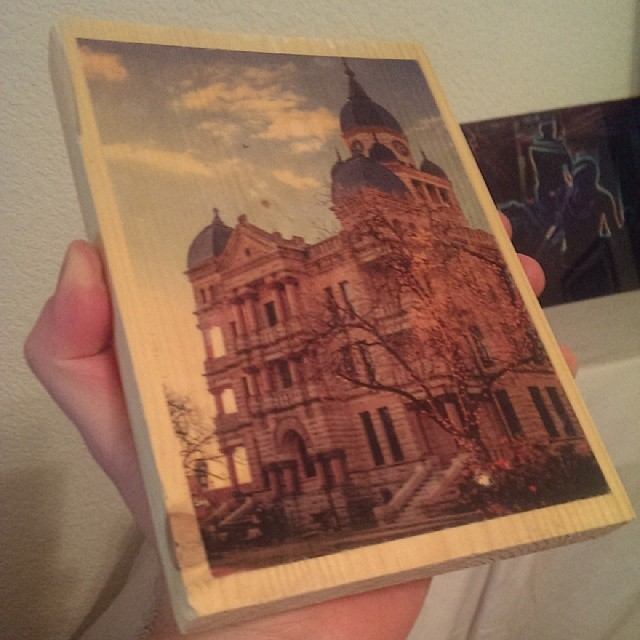Wood photo transfer experiments by  @phototerminus.