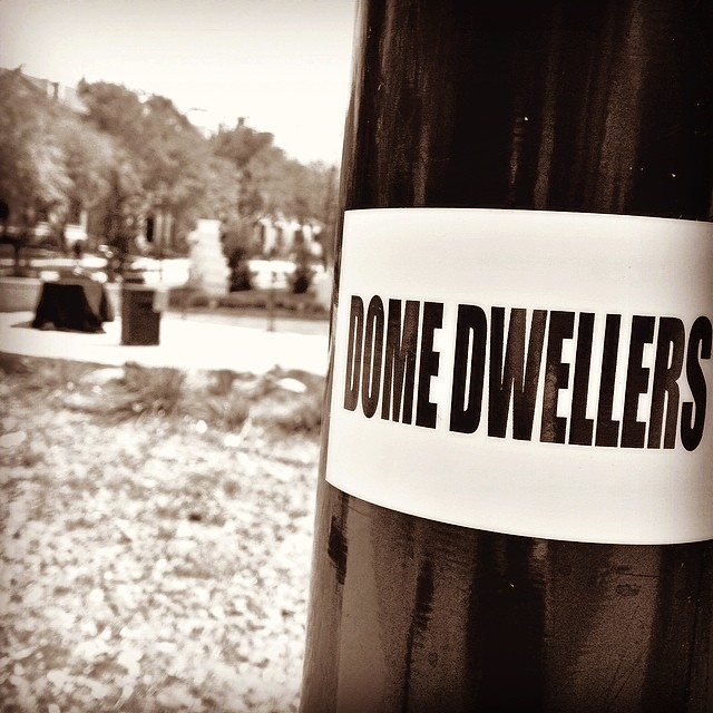 A little sticker bombing is just part of the local music culture. Thanks for catching the action @sundayprintshop! And catch a Dome Dwellers show whenever y'all have a chance, readers.