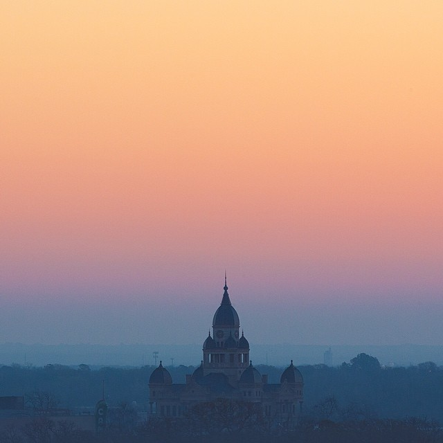 @maskerphoto caught our fair courthouse looking as dang stately as ever during an early sunrise. We love this little jewel in the center of our city.