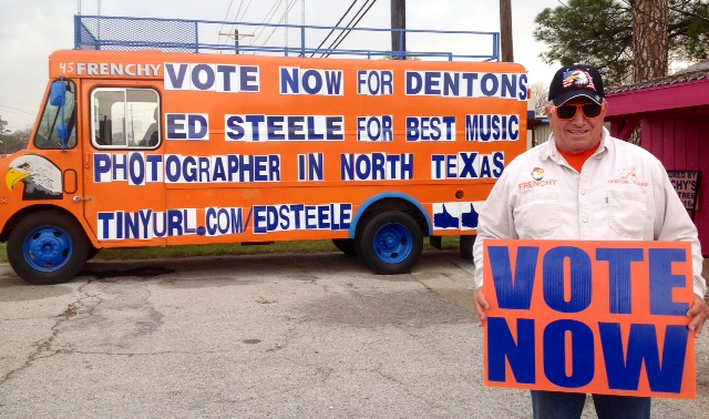 Frenchy says vote for Ed Steele. Photo from Frenchy.