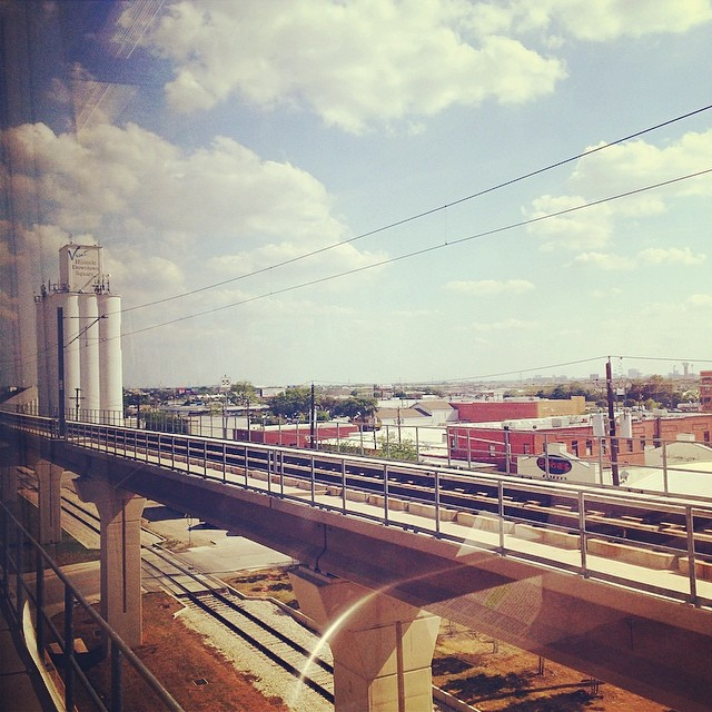 Photo snapped by @thepinkantler on the DART to A-Train commute from Dallas to Denton.