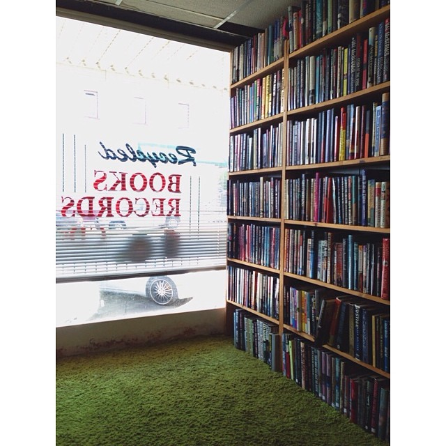 @madammcclain  caught a shot of one of our favorite 'book nooks' at Recycled. This is not a good place for a square wide game of hide and go seek, FYI.