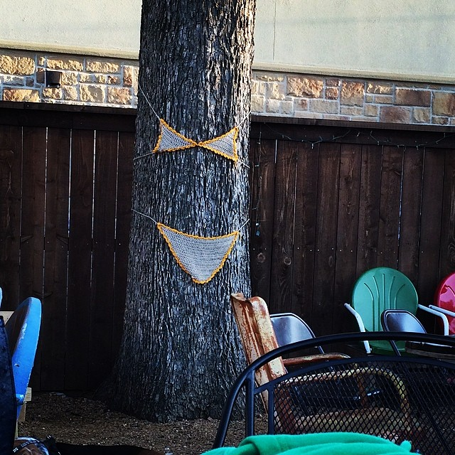 @malevolent_teaparty snapped a 'gram of the tree bikini at OSDH. We guess trees need to be ready for summer too. Nice tan, though, Oak.  Also, treekini.