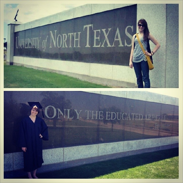 UNT and TWU grads! Here's an awesome before and after photo of SavvieDesignCo,  Savannah Teel.