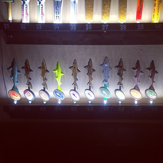 Taps on taps on taps at East Side. Photo by @ ryfuhr .