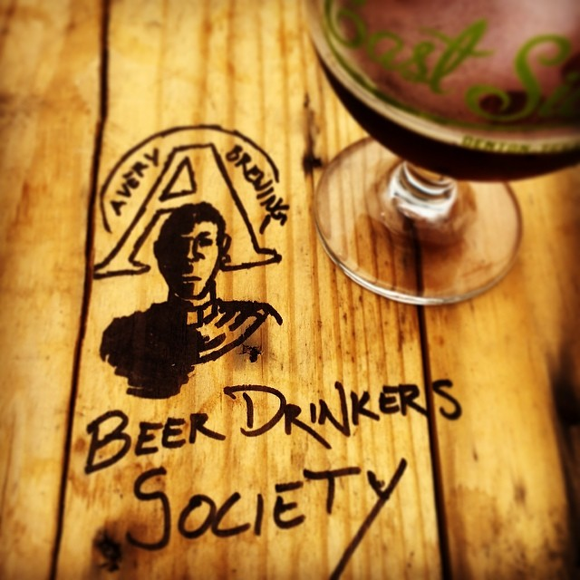 @besely spotted (or created - we're not sure) a little beer-ful artwork at East Side. While we're on the subject, who has the best table graffitti in town?