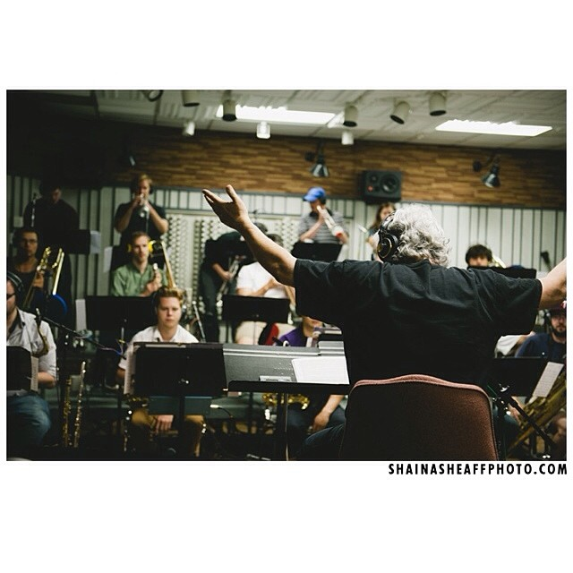 @shainasheaffphoto  had the pleasure of shooting the One O'Clock jazz band during a recording session.