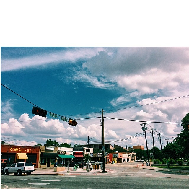 This is what Fry Street looks like once the students are gone - even the sky is happy. Photo by  @zach_ashcraft .
