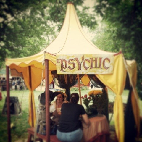 @dentonkate  went to the Renaissance Fair and found out a little more about her future...