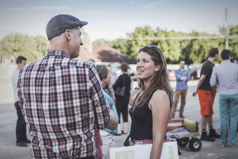 Jason Roberts talks to Denton Community Market's Kati Trice.