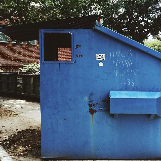 Hire a ninja, y'all. Denton has the best graffiti. Photo by @ynzi__  lynzi.