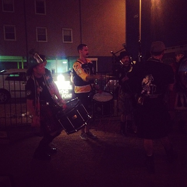 Bagpipes makin' noise at Eastside. Caught by  @shainasheaffphoto .