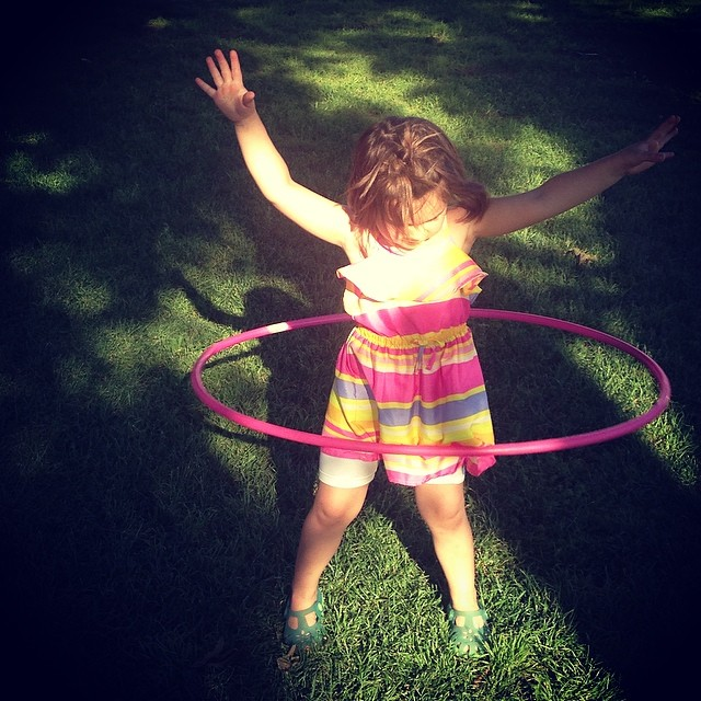 "Some call hula hooping the ""unofficial sport of Denton."" They may be right. Photo by @toole824."