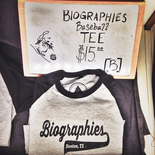 Biographies tees to keep you looking local - made by the one and only @sundayprintshop.