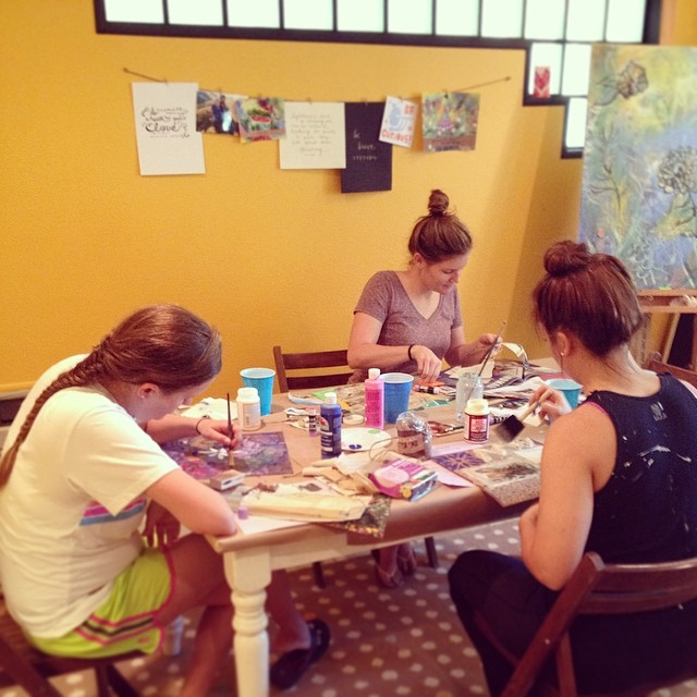 @wildflowerart hosted an adult art camp.
