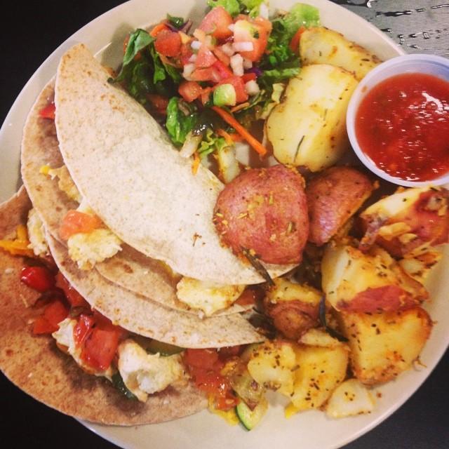 @shainasheaffphoto grabbed some veggie tacos at Cafe Brazil.