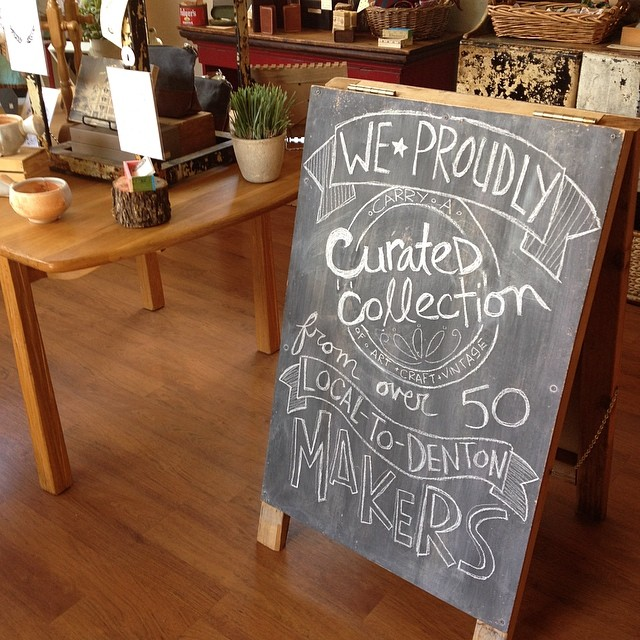 Did you know that The DIME store carries work from over 50 local makers? Pretty talented little town huh? Photo and awesome chalk by @dimehandmade.