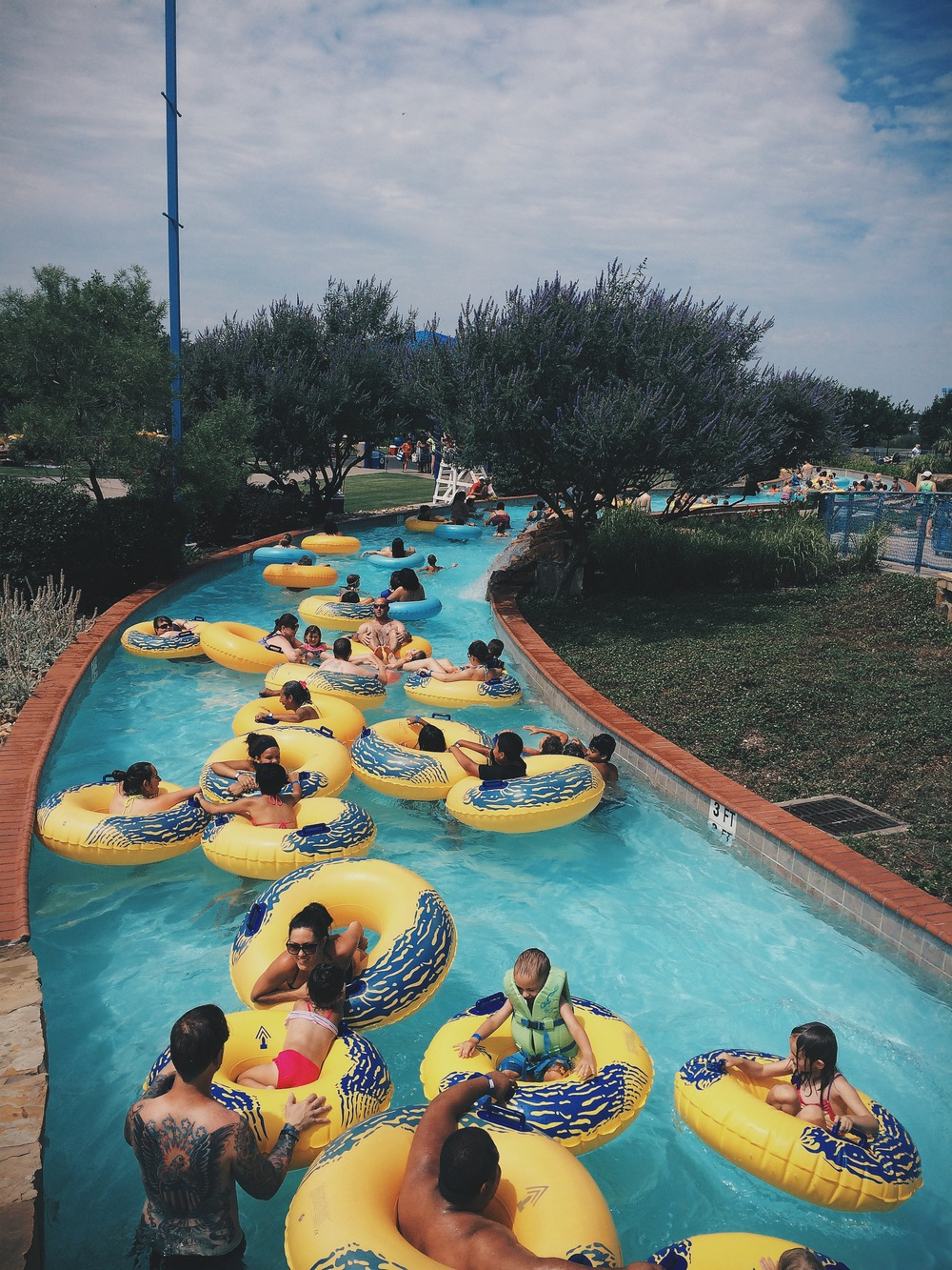 A local radio station sponsored a free day at Denton's Waterworks park if you texted them and showed up between 10am and noon. While we heard some compare the level of crowdedness to that of communist China, you can't really beat a free entry to the waterpark on a sunny day.