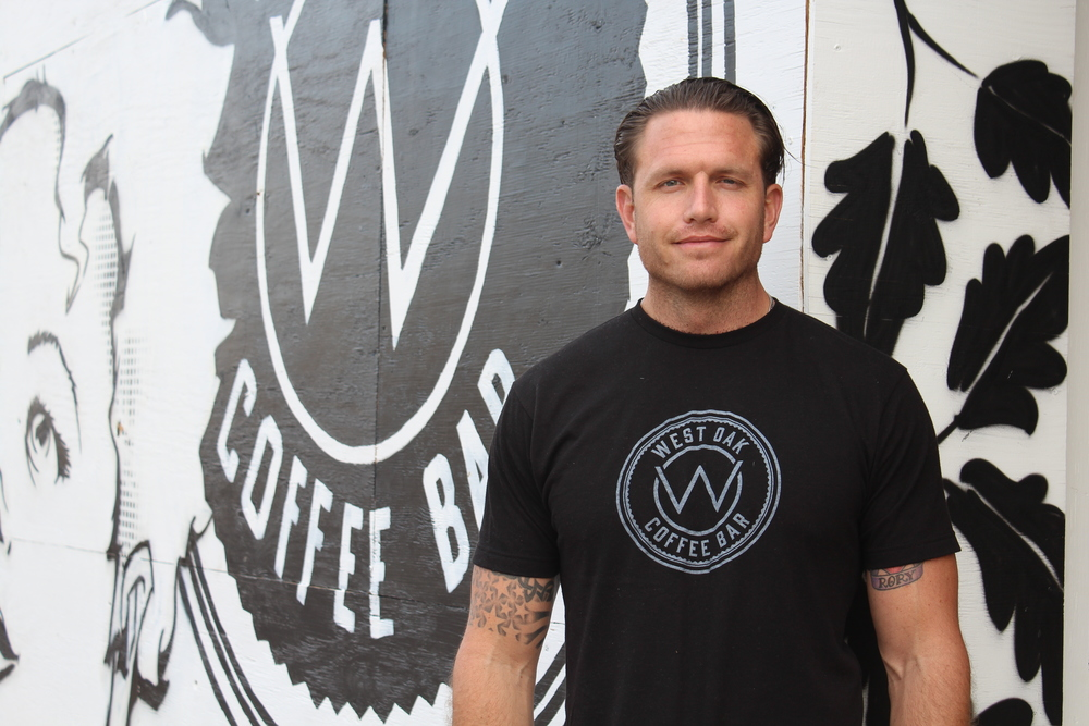 Matt Fisher, one of the owners of West Oak Coffee Bar. Photo provided by West Oak Coffee Bar.