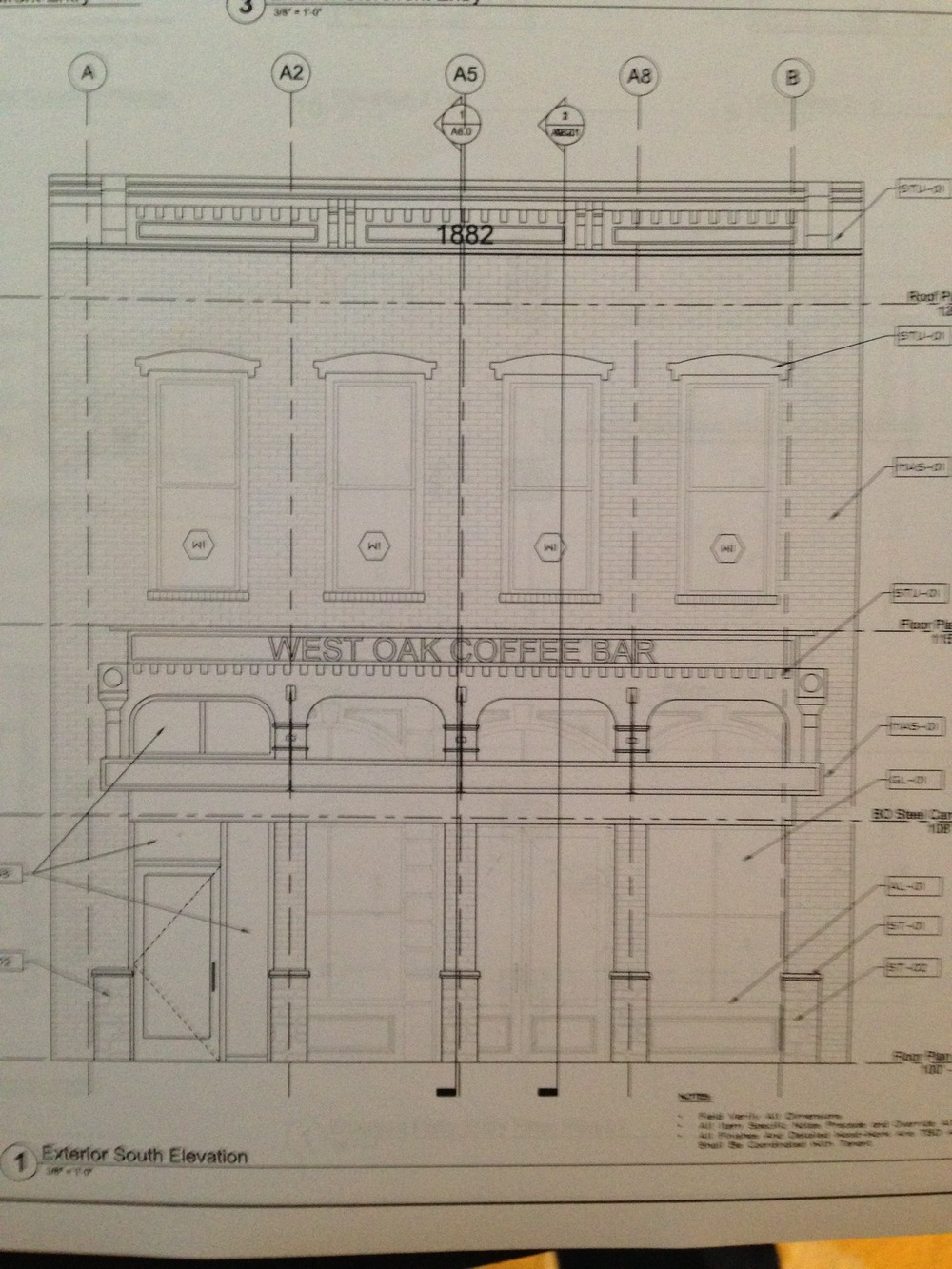 Plans for the front.