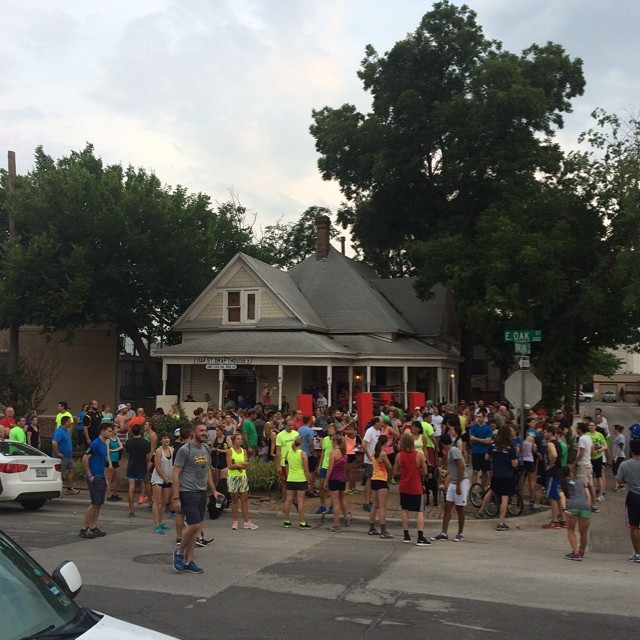 OSDH&CP social run! Get fit Denton! This happens every Wednesday and you should go check it out if you haven't already. Photo by @awroman79.