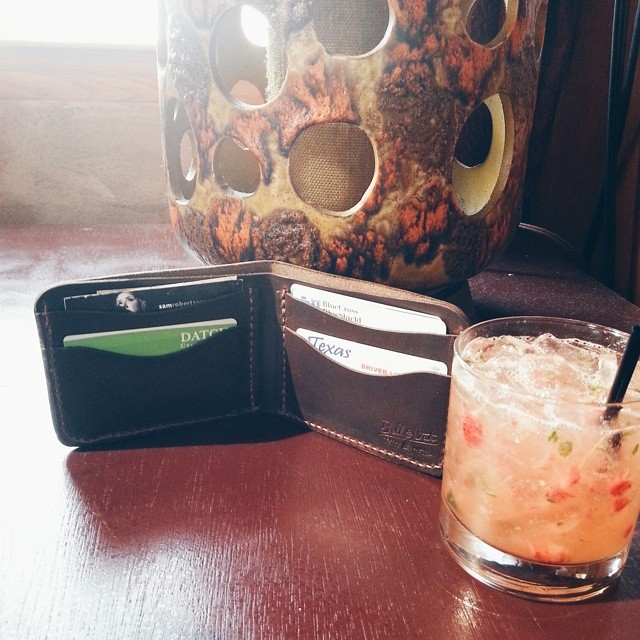 @joshpiers is totally in love with his new b-day gift - a @bellandoak wallet picked out by his amazing wife.