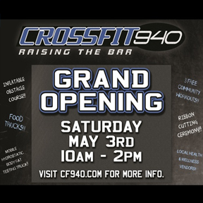 Post sponsored in part by Crossfit 940. Visit their new location off of I-35 and get fit!