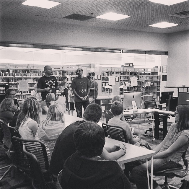The Forge was packed with the future documentary filmmakers at a workshop featuring Joshua Butler of the Thin Line documentary fest at @thedentonpubliclibrary. Workshop for the win.