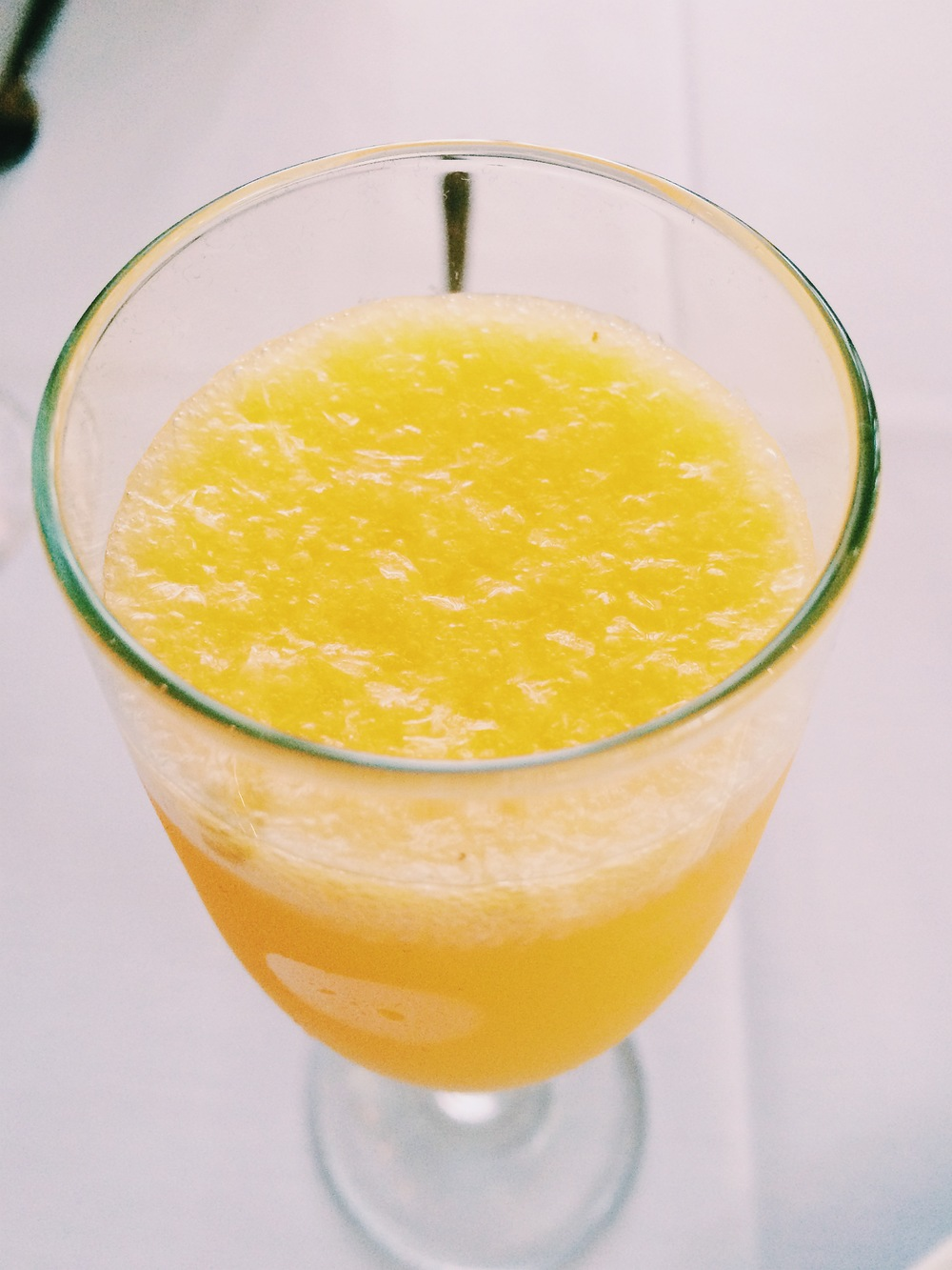 More mimosas please! We dig the fancy pants, pulpy brunch staple at Queenie's brunch which comes complimentary.