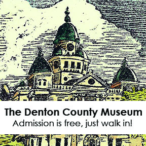 The Denton County Museum in the courthouse.