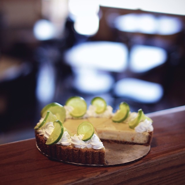 Holy cow. This key lime cheesecake is available for a limited time at Cafe Brazil and that means we better get our butts over to the breakfast district ASAP.
