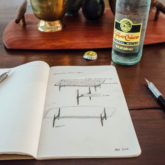 Pastrana Studio studies the right way - with Topo Chico in hand.