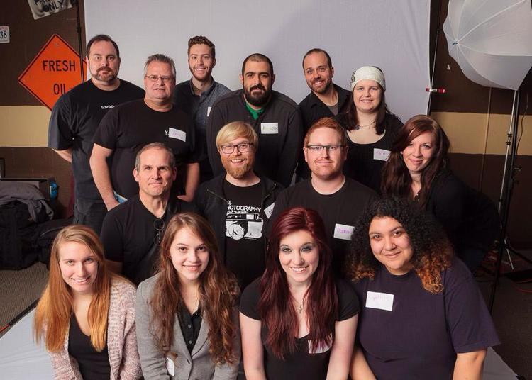 The volunteer photography crew from Help-Portrait: Denton 2013.