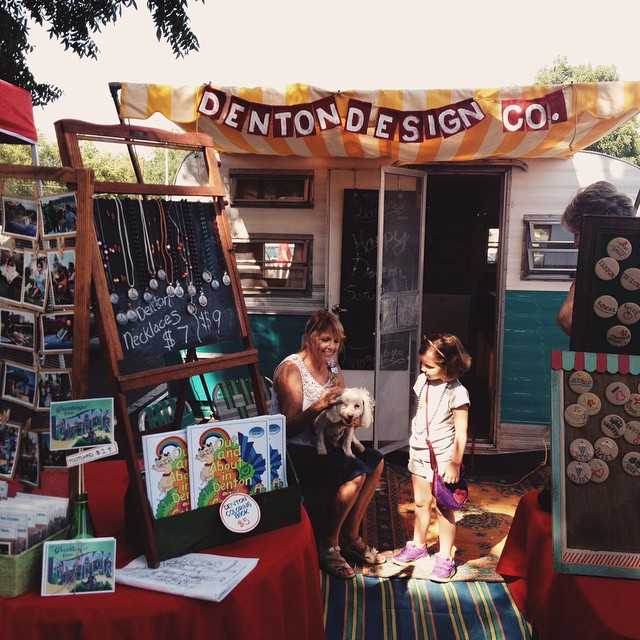 Denton Design Co. at the Community Market on Saturday.