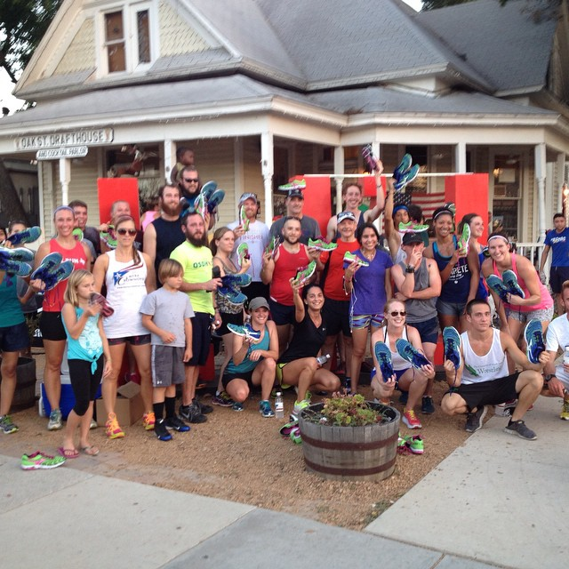 @denton_social_runners teamed up and ran 160 strong last week at Oak St. Drafthouse.