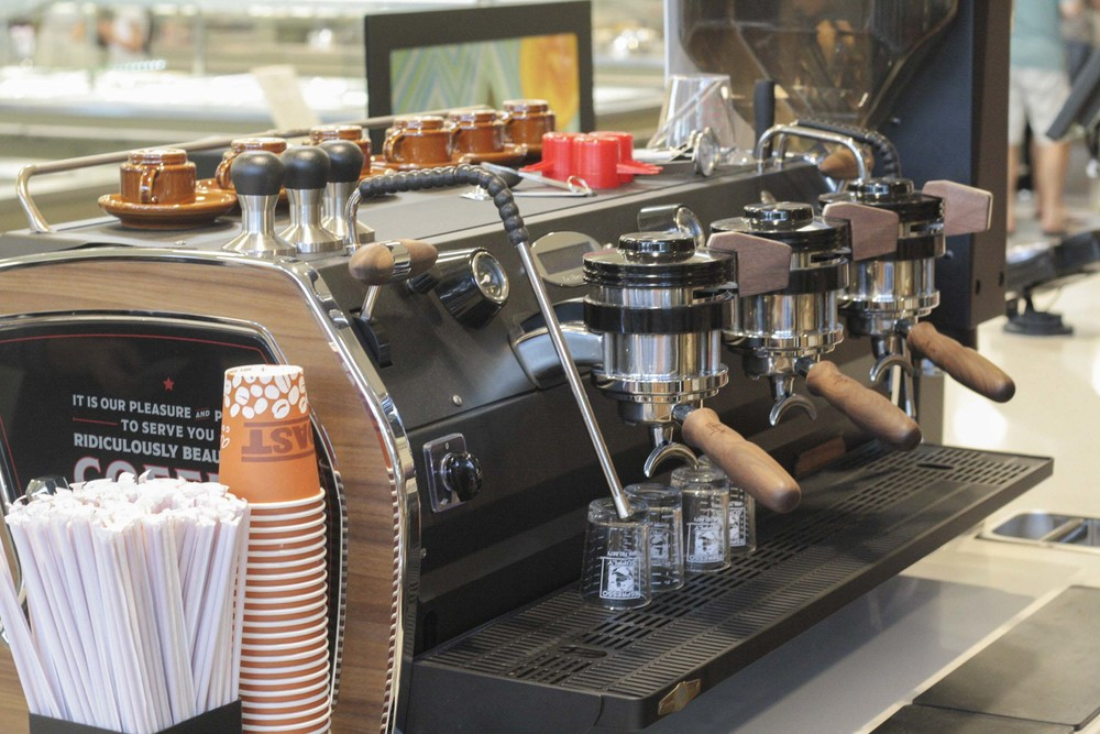 By the time you're done shopping, hit up the coffee bar so that you have plenty of energy for the 'long drive home.'