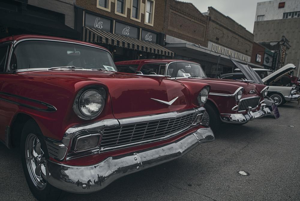 Arts, Antiques and Autos had lots of old, interesting and just plain weird cars strewn about on the square Saturday morning. More photos in a gallery below.