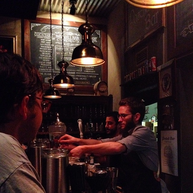 Matthew Long, beveraging it up at Paschall Bar.