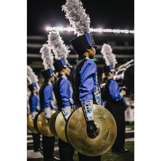 There was a high school band competition at Apogee on Friday.