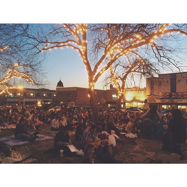 We co-hosted a watching party of Moonrise Kingdom last Friday evening on the courthouse lawn. We had a blast hanging with all y'all and hope to do it again sometime soon!