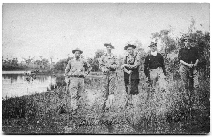 Reckon these alligator hunters ever doubled as Bigfoot hunters?  Photo courtesy of UNT Libraries