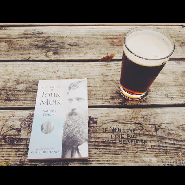 A book and a beer at OSDH.