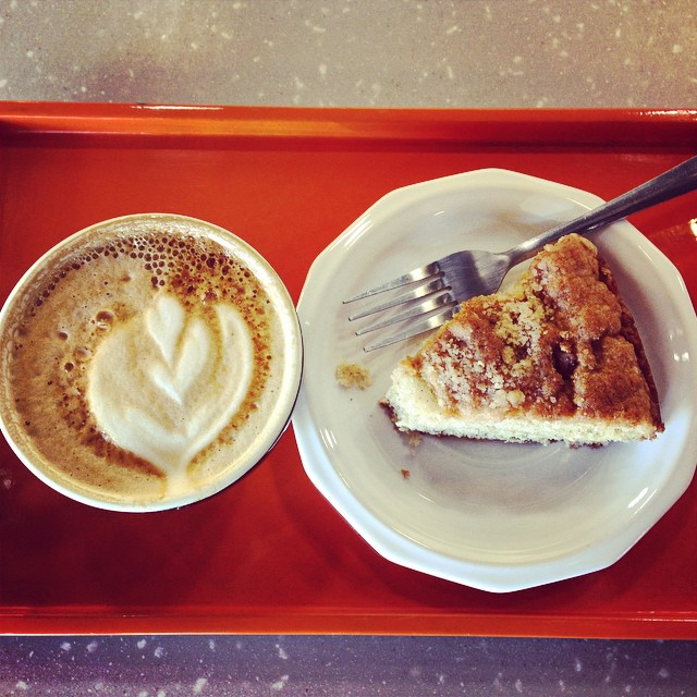 We'll end with this shot of coffee and coffee cake from Shift. Treat yoself, y'all.
