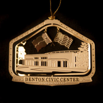 One of the collectible Denton tree ornaments.