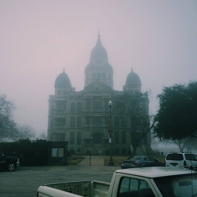 We can't get enough of that creepy courthouse fog, y'all.