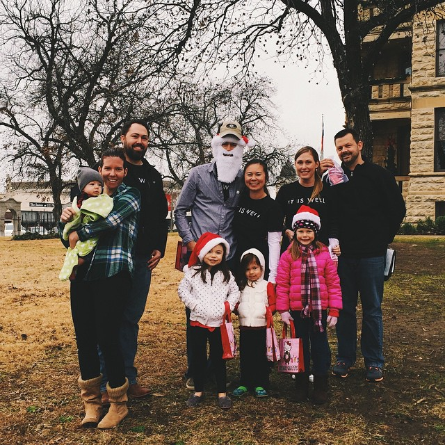 Members of Cross Timbers Church spread cheer around Denton last week.
