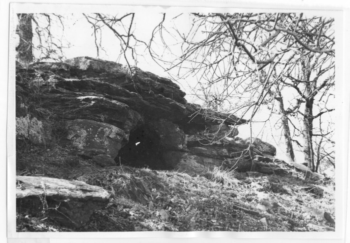 One of Sam Bass' hideout caves near Pilot Knob, amongst hundreds of purported spots scoured for hidden gold.
